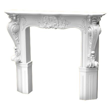 Купить декоративный портал камина Decomaster DG 8401 из полиуретана Декомастер DG-8401